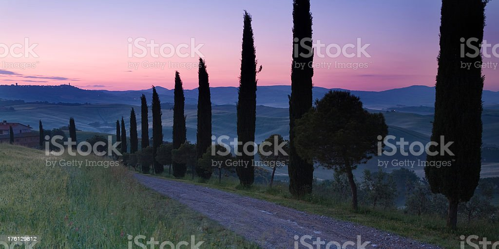 tuscan alley royalty-free stock photo