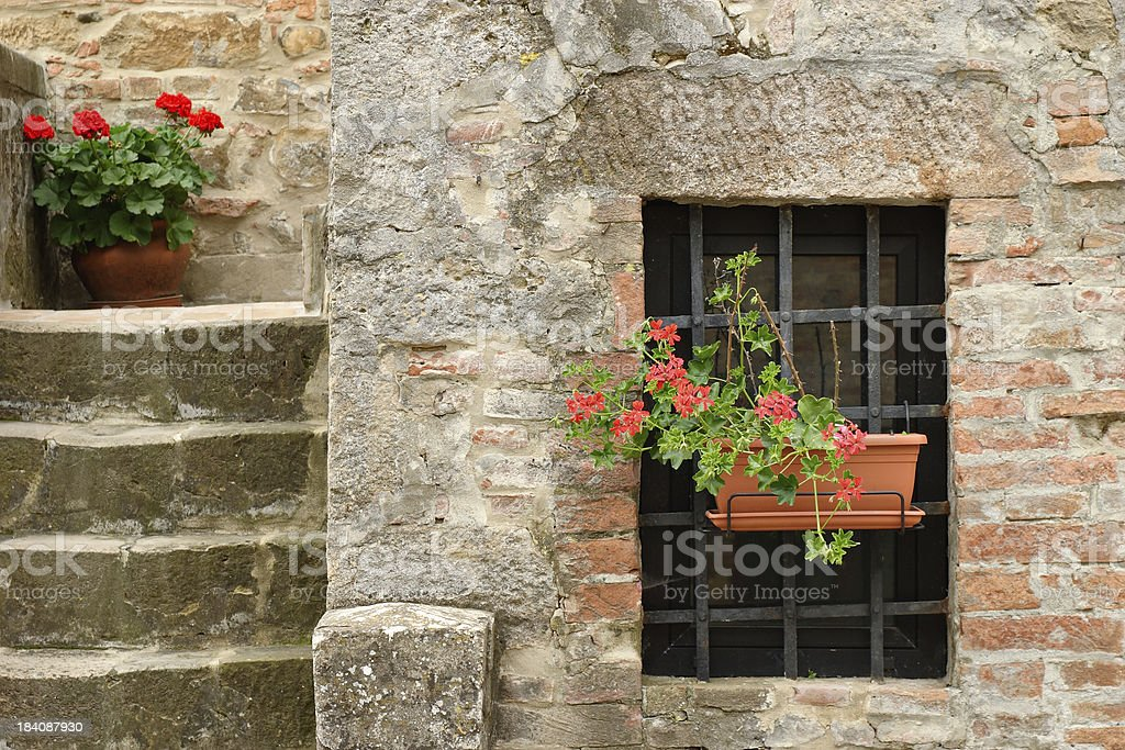 Tuscan architectural detail stock photo