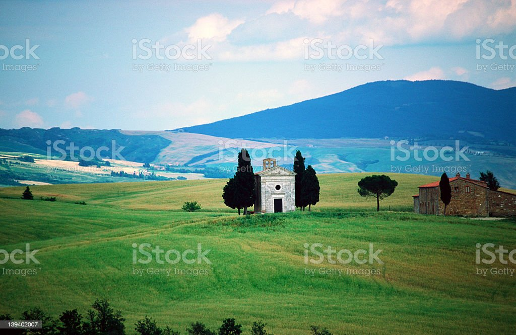 Tuscan Church View royalty-free stock photo