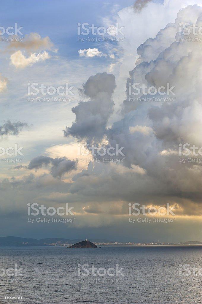 Tuscan coast, Italy royalty-free stock photo