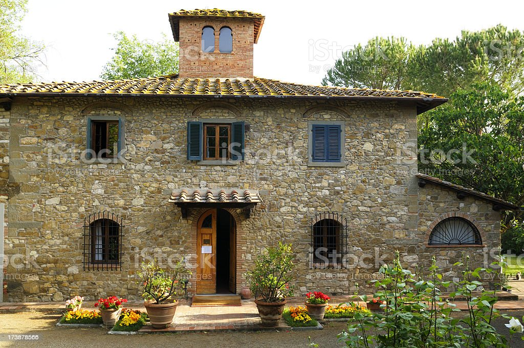 Tuscan Country Inn stock photo