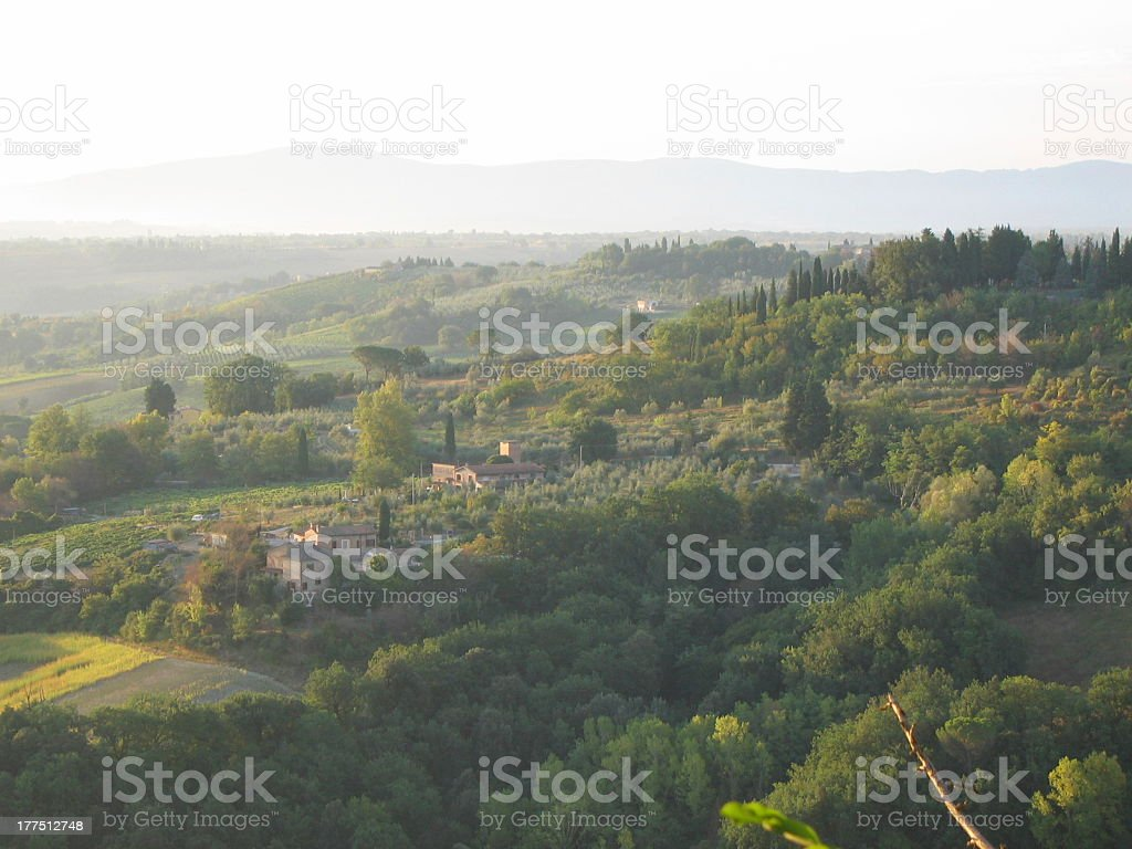 Tuscan countryside royalty-free stock photo