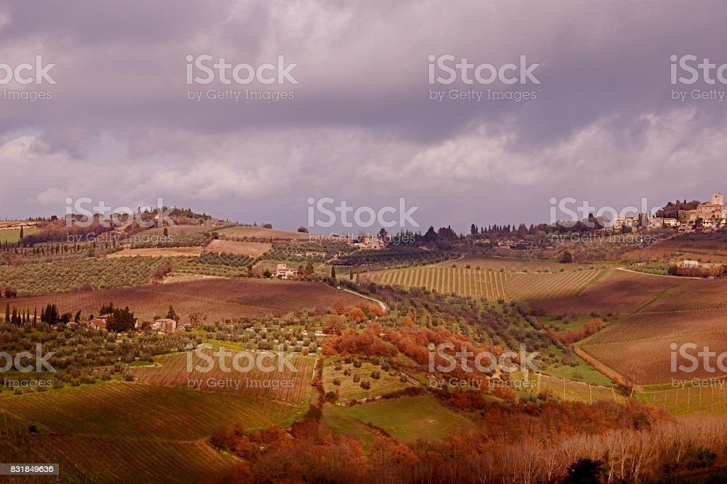 Tuscan Countryside stock photo