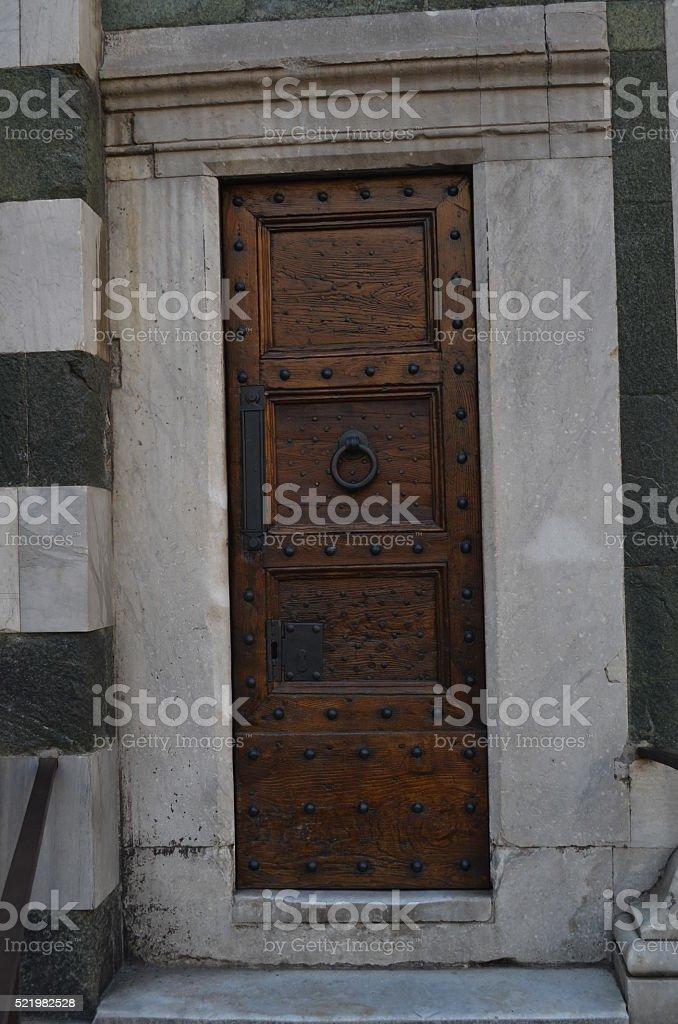 Tuscan door stock photo
