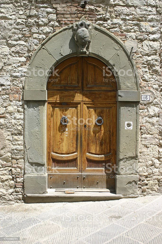 Tuscan Doorway III royalty-free stock photo