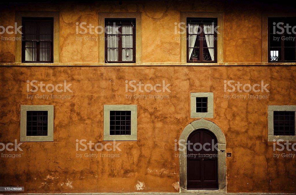tuscan facade, stock photo
