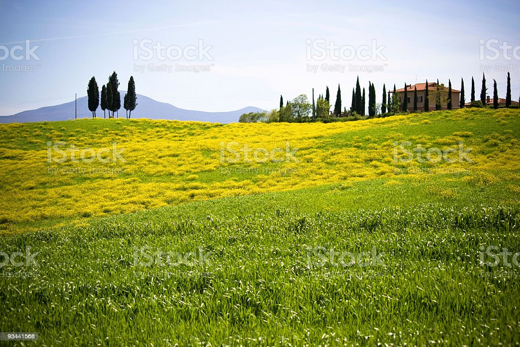 Tuscan farmhouse royalty-free stock photo