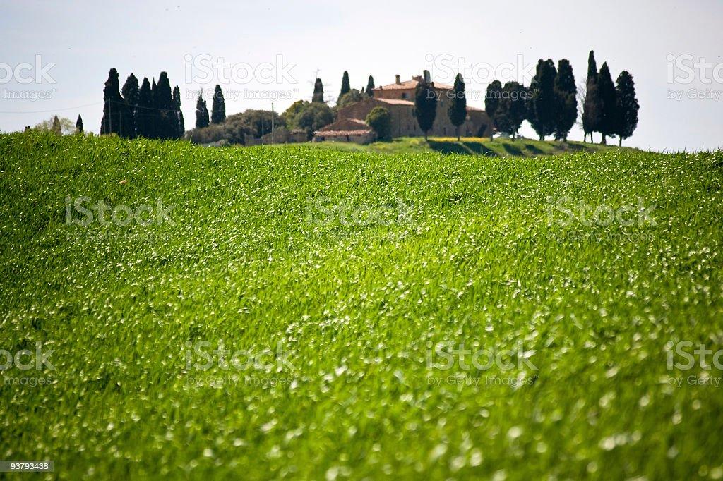 Tuscan farmhouse royalty-free stock photo