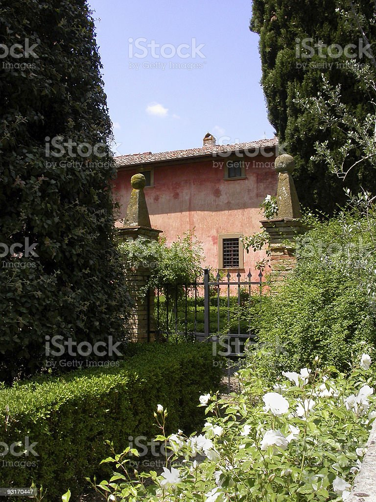 Tuscan Garden royalty-free stock photo