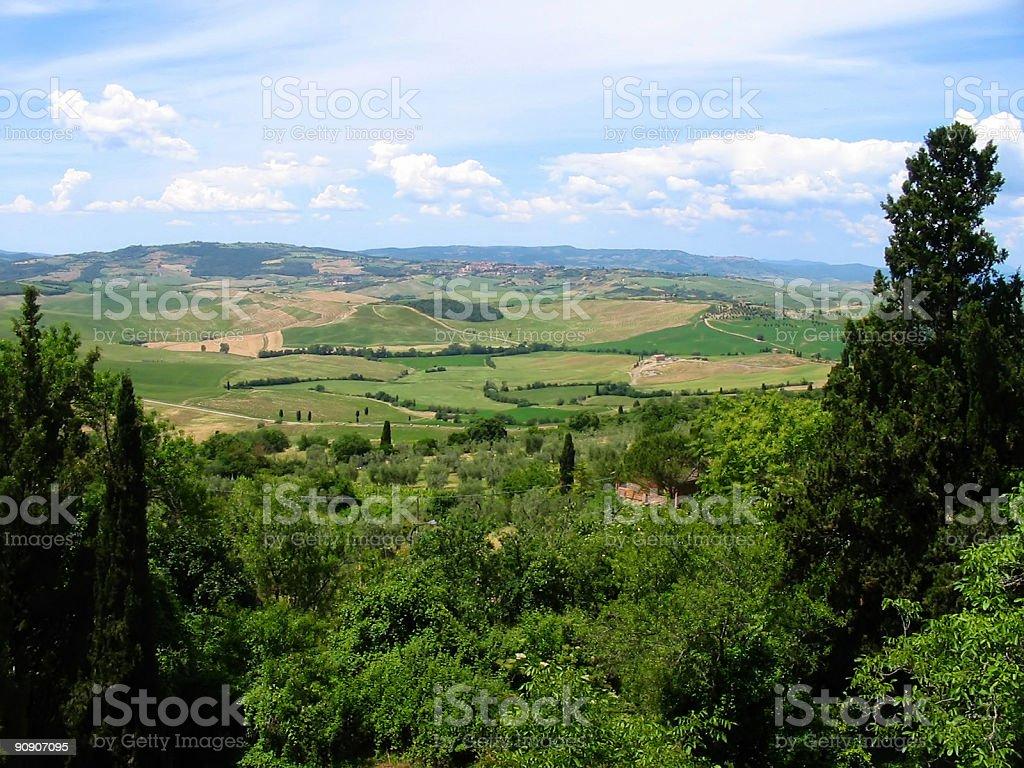 Tuscan hills Nobody royalty-free stock photo
