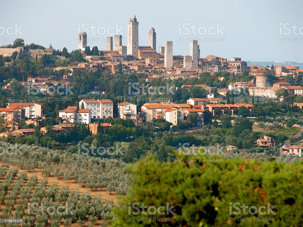 Tuscan hill-town of San Gimignano, Italy royalty-free stock photo