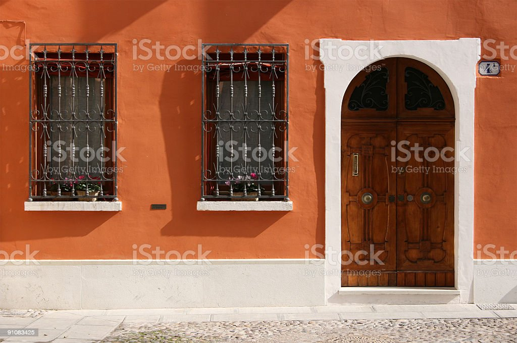 Tuscan house royalty-free stock photo