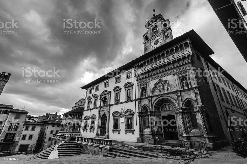 Tuscan italian medioeval village royalty-free stock photo