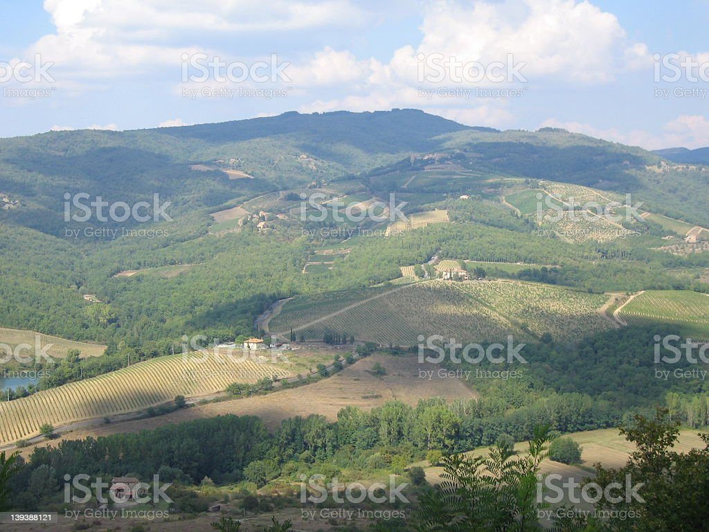 Tuscan Landscape in Chianti royalty-free stock photo