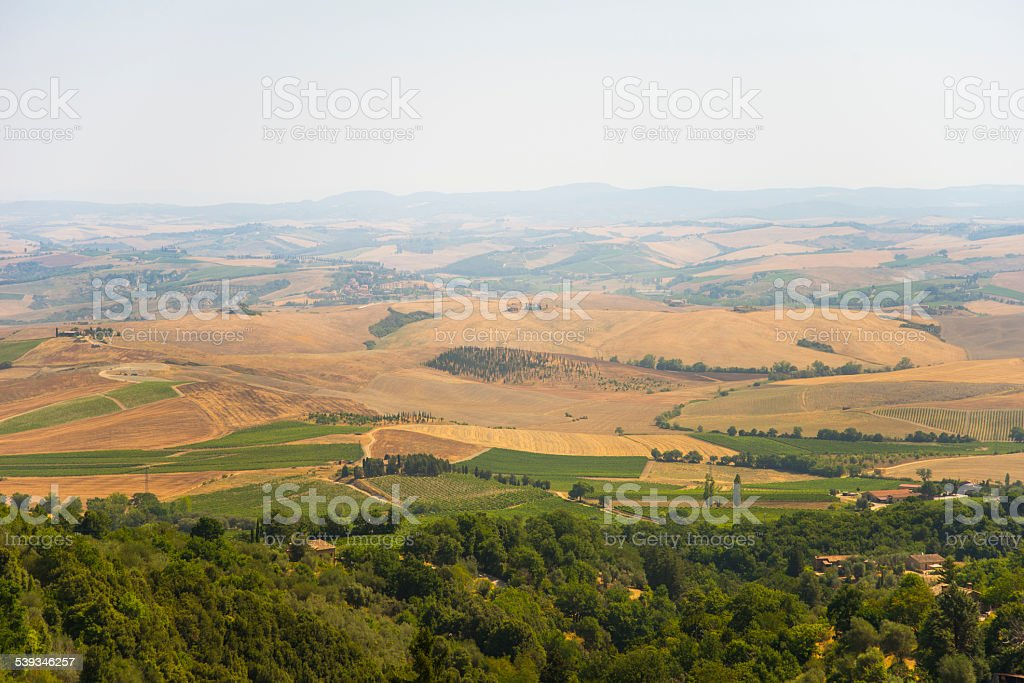 Tuscan landscape in summer stock photo