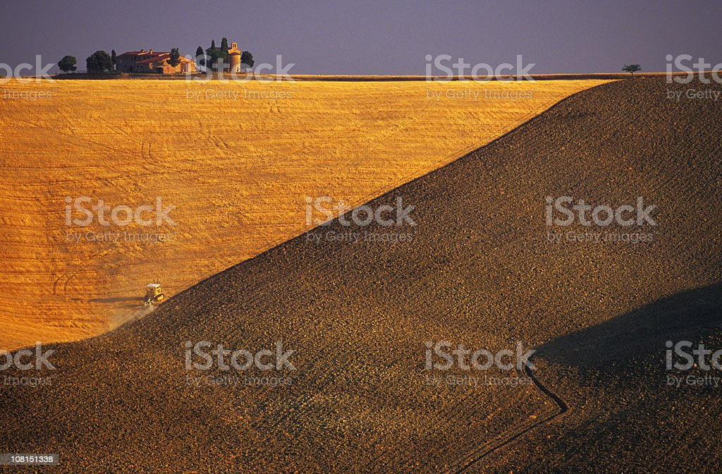 Tuscan Landscape, Italy stock photo