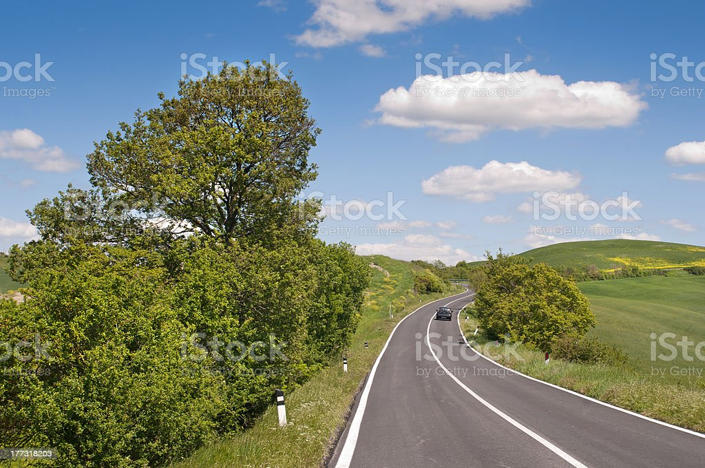 Tuscan roads royalty-free stock photo