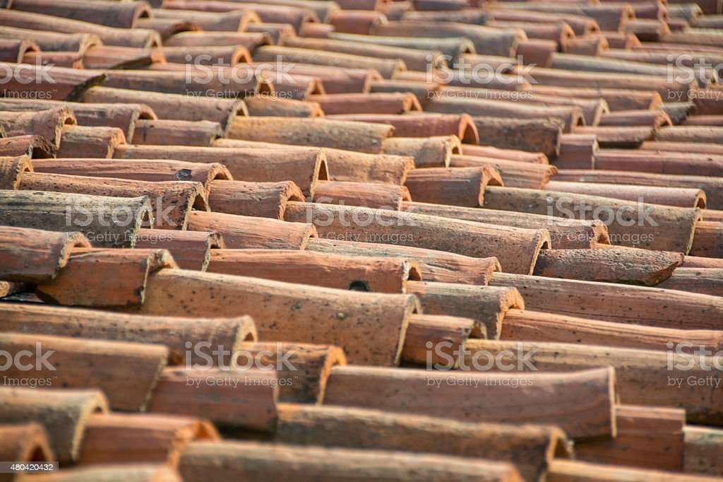 Tuscan Roof stock photo