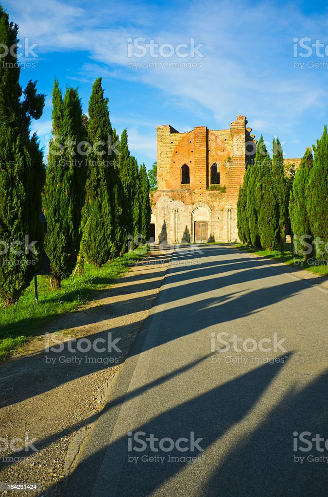 Tuscan ruins stock photo