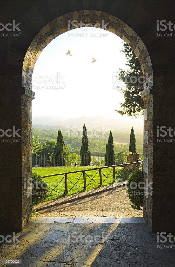 Tuscan scene royalty-free stock photo