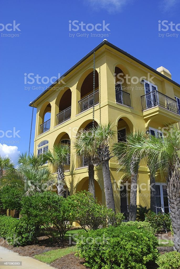 Tuscan Style Beach House royalty-free stock photo