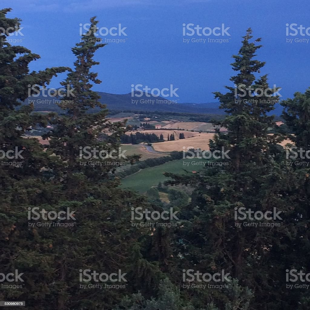 Verão da Toscana foto royalty-free
