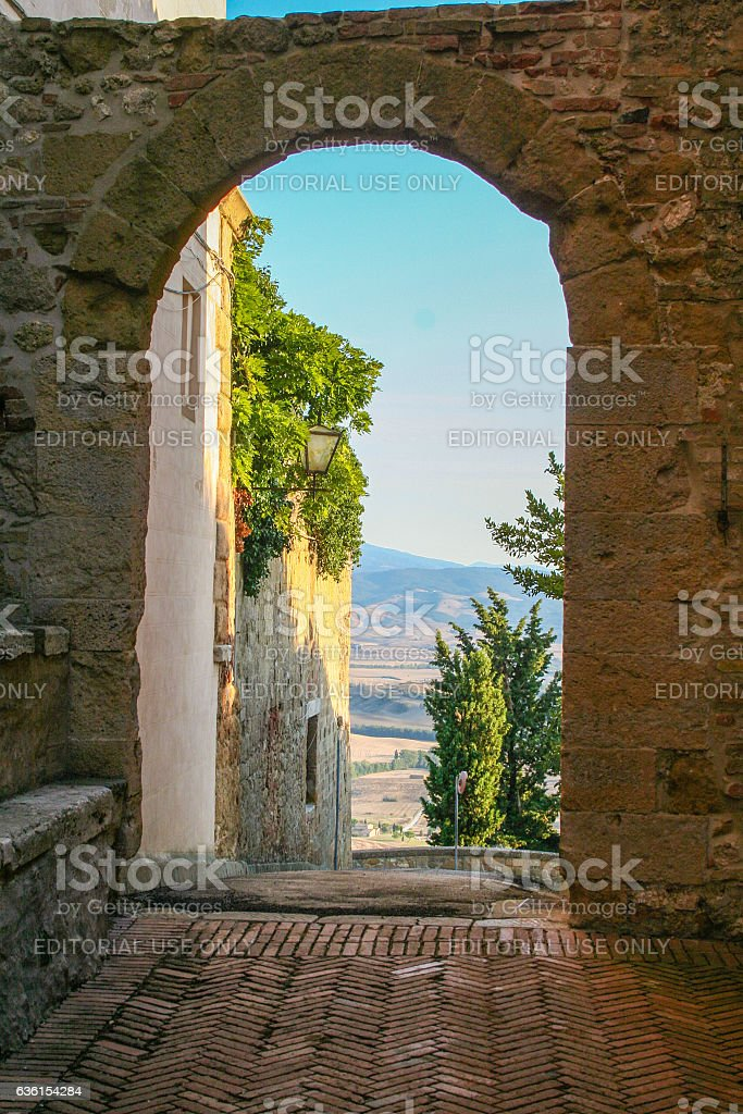 Tuscan val d'Orcia and Pienza stock photo