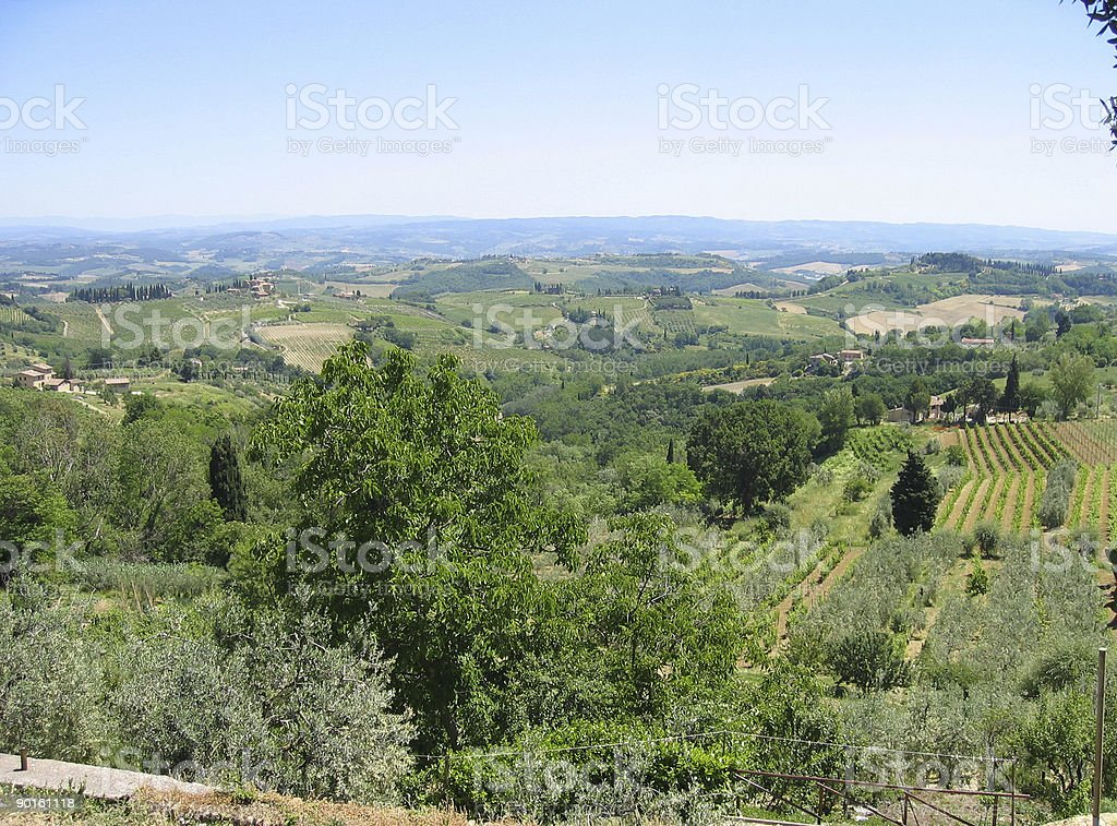Tuscan View -- Italy stock photo