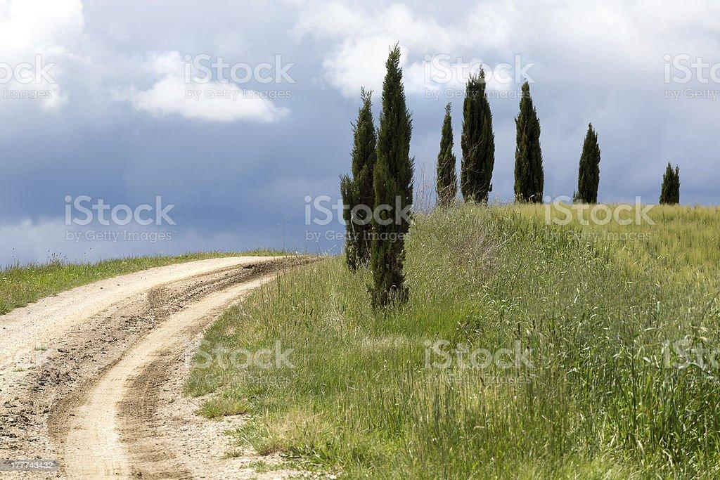 Tuscan views royalty-free stock photo