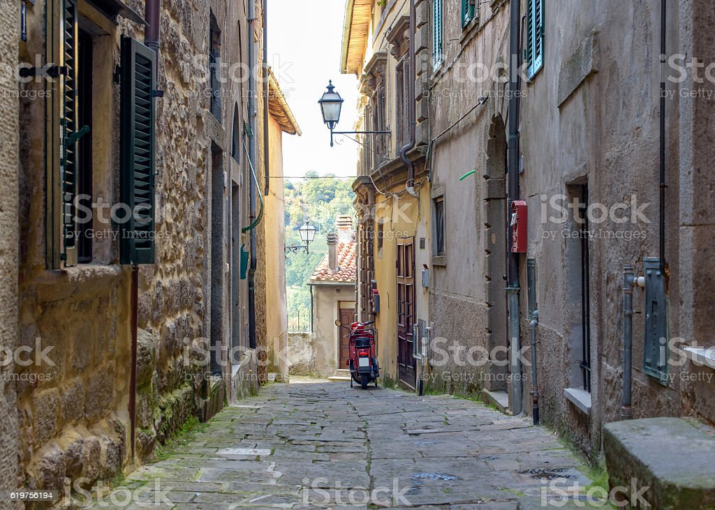 tuscan village in italy stock photo