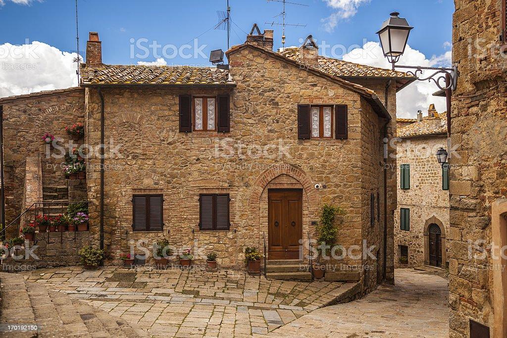 Tuscan Village, Italy stock photo