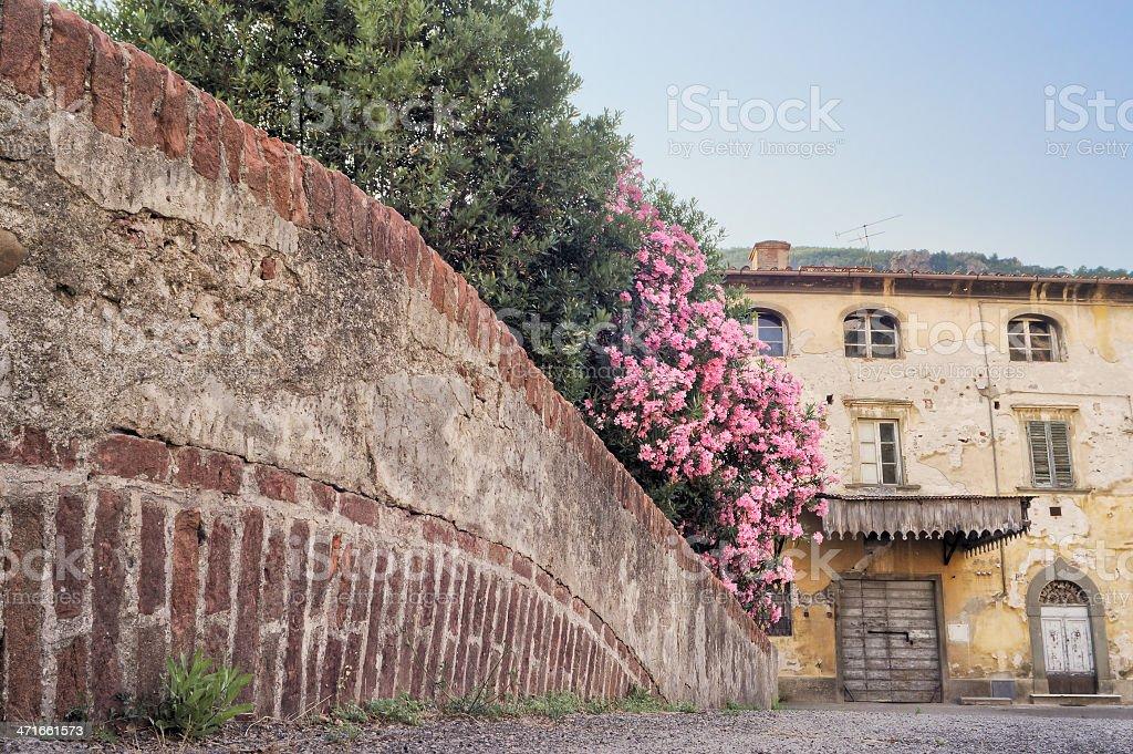 Tuscan village of Calci, Pisa: a bridge royalty-free stock photo