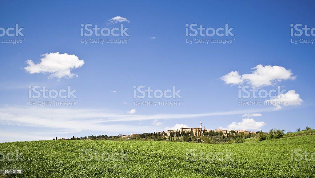 Tuscan village royalty-free stock photo