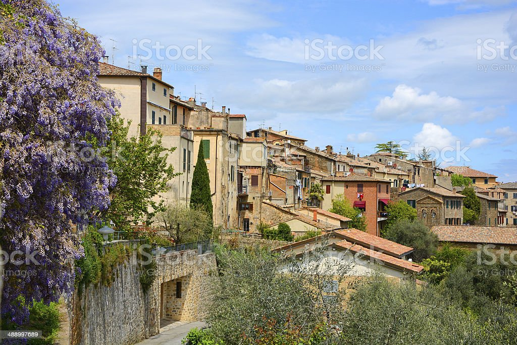 Tuscanian village stock photo