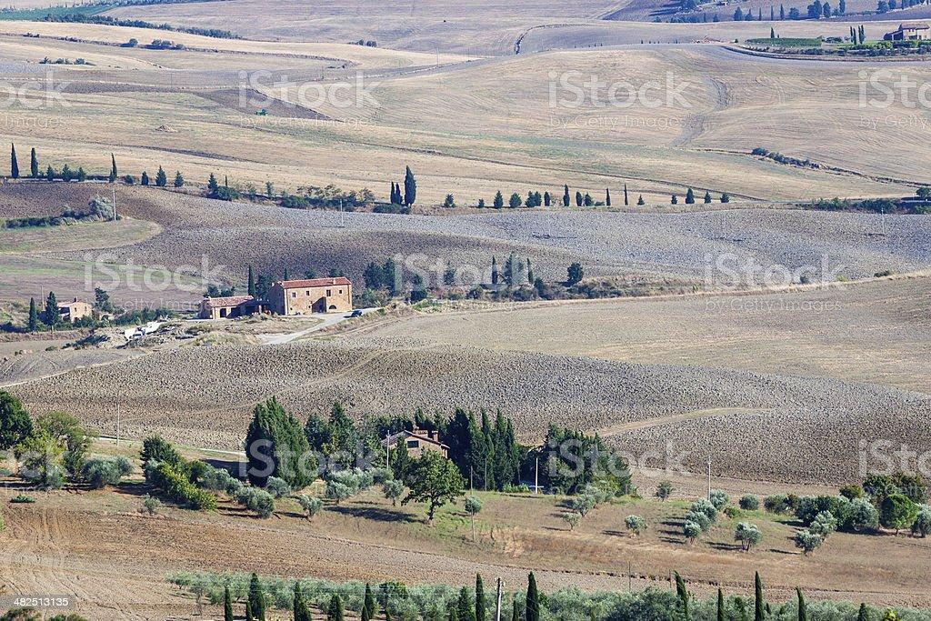 Tuscany autumn landscape royalty-free stock photo