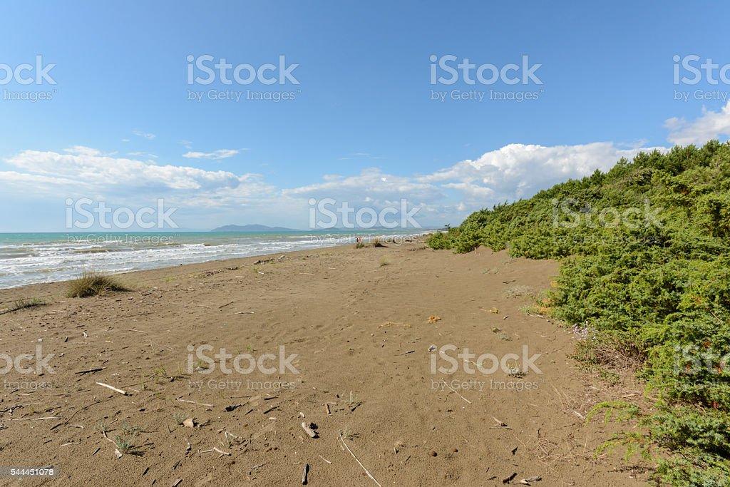 Tuscany beach stock photo