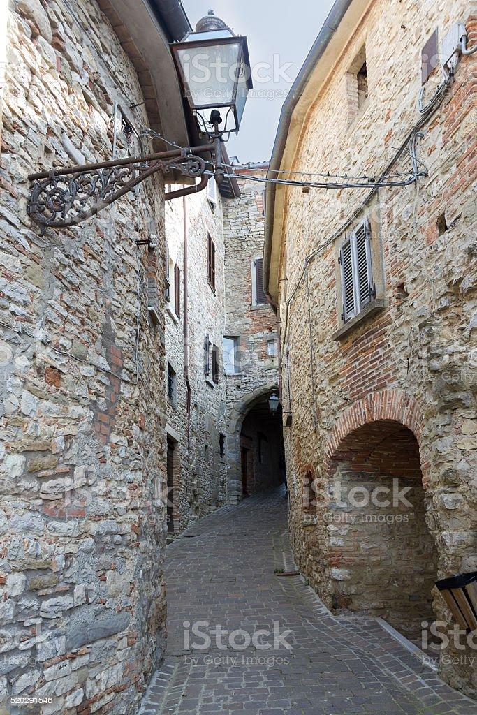 tuscany city alley stock photo