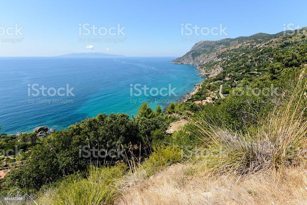 Tuscany coastline stock photo