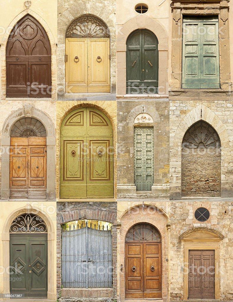 Tuscany Doors royalty-free stock photo