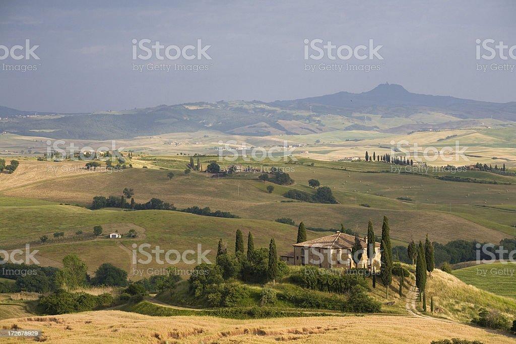 tuscany farm house royalty-free stock photo