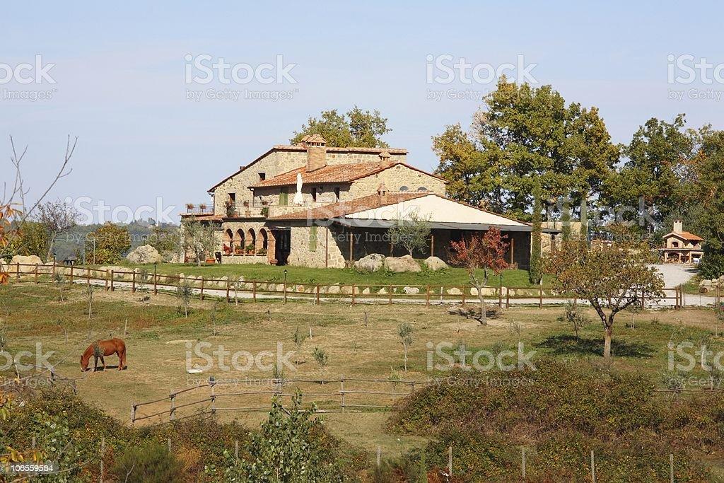 Tuscany Farm in Fall royalty-free stock photo