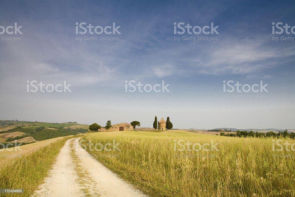 tuscany farm track stock photo