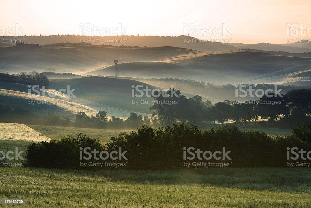 tuscany farmland royalty-free stock photo