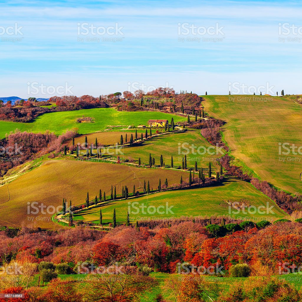 Tuscany fields Landscape royalty-free stock photo