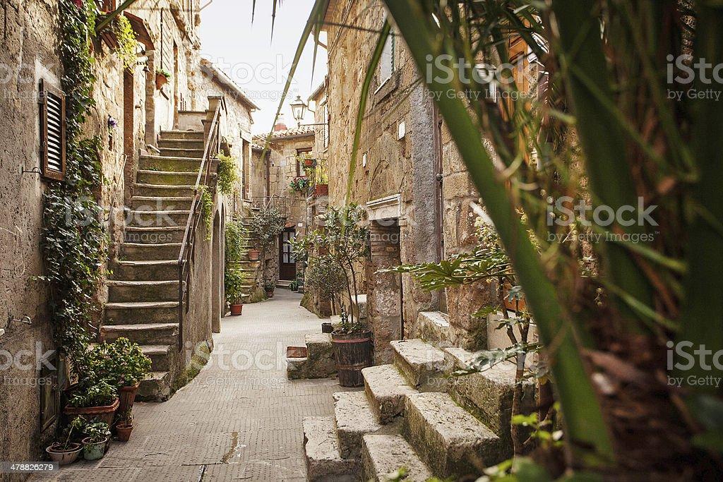 Toscana, Scorcio di Paese, Pitigliano stock photo