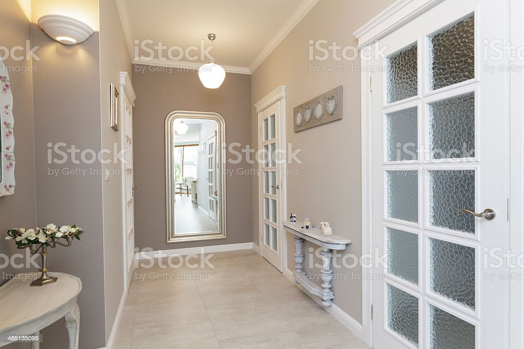 Tuscany - hall with mirror stock photo