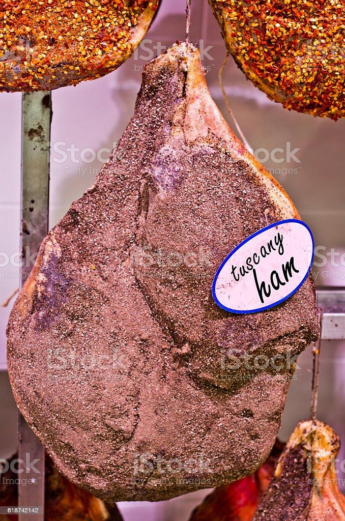 tuscany ham on the bone stock photo