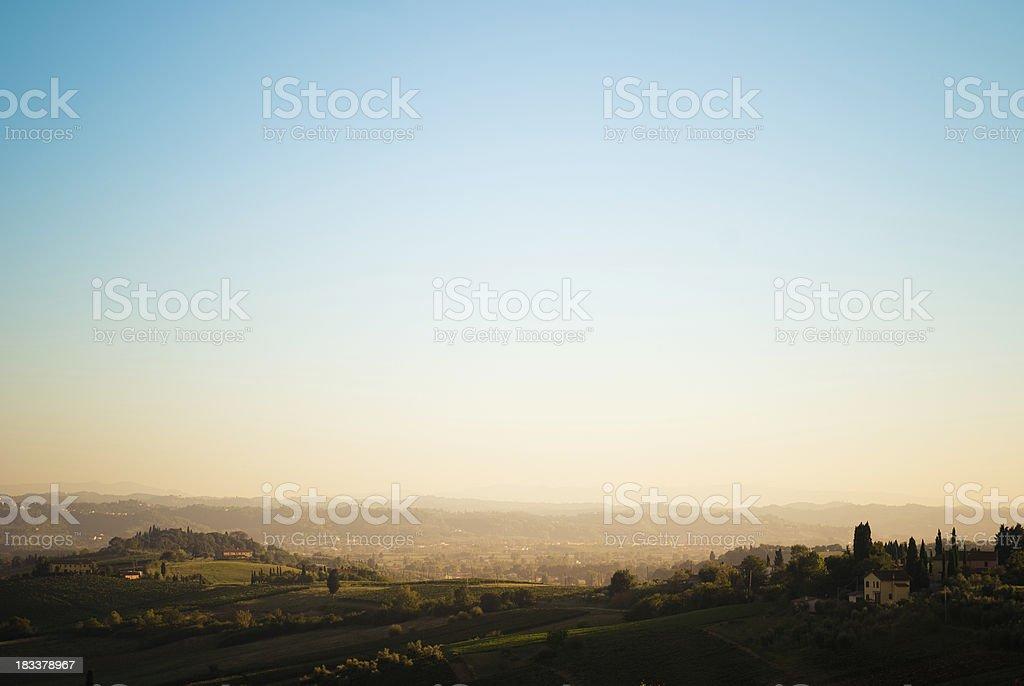 Tuscany hills landscape - Italy royalty-free stock photo