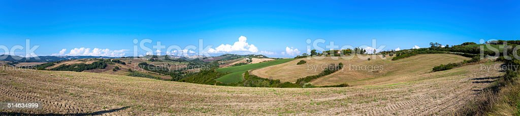 Tuscany hills panorama. Color image stock photo
