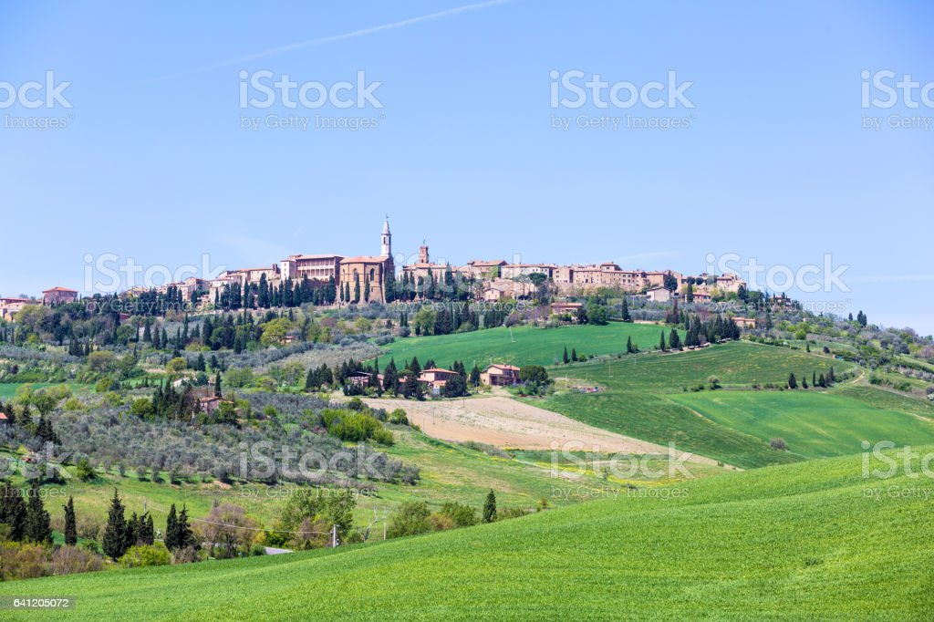 Tuscany, Italy. Green Landscape stock photo